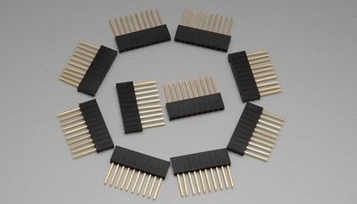 """10 pin 1"""" Tall Female Stackable Header (10pcs)"""