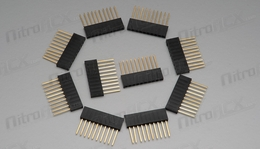 "10 pin 1"" Tall Female Stackable Header (10pcs)"
