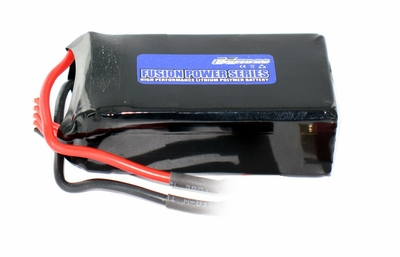 "14.8V 1500mAh 15C ""Exceed RC Fusion Power Series"" High Performance Lithium Polymer Battery"