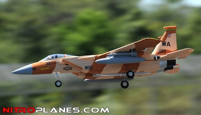 2.4G 4-CH AirField 64mm F15 Ducted Fan RC Jet RTF w/ Brushless Motor, LiPo RTF (Desert Camo)