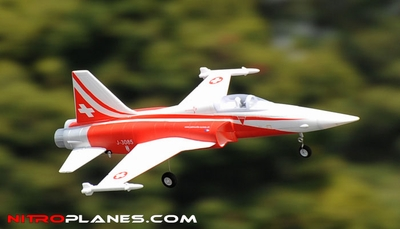 2.4G 4-CH AirField 64mm F5 Ducted Fan RC Jet RTF w/ Brushless Motor, LiPo RTF (Red) RC Remote Control Radio