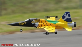 2.4G 4-CH AirField 64mm F5 Ducted Fan RC Jet RTF w/ Brushless Motor, LiPo RTF (Tiger) RC Remote Control Radio