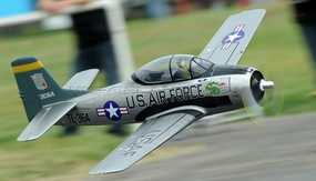 2.4G 6-Channel AirField RC T28 1400mm Radio Control Warbird Plane w/ Brushless Motor/ESC/Lipo 100% RTF *Super Scale* EPO Foam Plane + Electric Retracts (Silver)