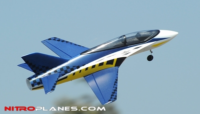 2.4G 64mm Concept X Super Performance Brushless Ducted Fan RC Jet RTF (Blue)