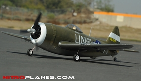 2.4G Airfield P-47 750mm RC Warbirds RTF w/ Brushless Motor+ESC+Everything (Green) RC Remote Control Radio