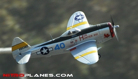 2.4G Airfield P-47 750mm RC Warbirds RTF w/ Brushless Motor+ESC+Everything (Silver)