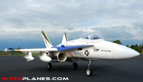 """2.4G Extreme Detail 4-Channel AirField RC F18C 670mm (26.4"""") Radio Control EDF Jet w/ Brushless Motor/ESC/Lipo 100% RTF *Super Scale* Ducted Fan RC Jet (White)"""