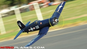 2.4G Extreme Detail 5-CH AirField RC F4U Corsair 1430MM Warbird Plane w/ Brushless Motor/ESC/Lipo 100% RTF *Super Scale* EPO Foam Plane + Electric Retracts (Blue)