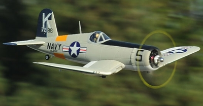 2.4G Extreme Detail 5-CH AirField RC F4U Corsair 1430MM Warbird Plane w/ Brushless Motor/ESC/Lipo 100% RTF *Super Scale* EPO Foam Plane + Electric Retracts (Gray)
