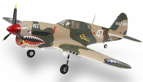 2.4G Extreme Detail 5-Channel AirField RC P-40 WarHawk 1400MM Radio Control Warbird Plane w/ Brushless Motor/ESC/Lipo 100% RTF *Super Scale* EPO Foam Plane + Fix Landing Gear (Tiger)