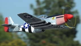 "2.4G Extreme Detail 5-Channel AirField RC P-51 1450MM (57"") Radio Control Warbird Plane  Kit *Super Scale* EPO Foam Plane + Electric Retracts + Retractable Tail Wheel (Silver) RC Remote Control Radio"
