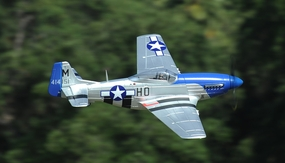 "2.4G Extreme Detail 5-Channel AirField RC P-51 1450MM (57"") Radio Control Warbird Plane w/ Brushless Motor/ESC/Lipo 100% RTF *Super Scale* EPO Foam Plane + Electric Retracts + Retractable Tail Wheel (Blue) RC Remote Control Radio"