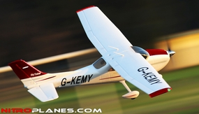 "2.4Ghz 4 Channel AirField RC 55"" Sky Trainer Upgrade Version Airplane w/ Brushless Motor/ESC/Lipo/LED Lights 100% RTF *Super Scale/Detail* EPO Foam Plane (Red) RC Remote Control Radio"