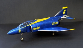 2.4GHz 4-Channel F-4E Blue Phantom EDF Jet 100% Ready-to-Fly w/ Brushless Setup RC Remote Control Radio