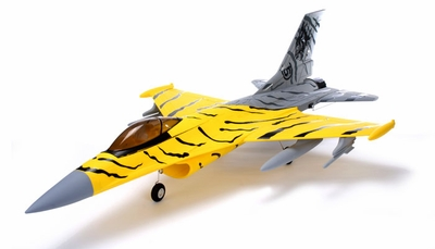2.4Ghz AirField 70MM F16 Brushless EDF Tiger Jet Electric Ducted Fan RC Jet w/ Bombs RTF RC Remote Control Radio