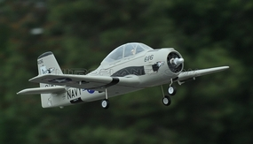2.4GHz Airfield T-28 Trojan 800mm RC Warbirds RTF w/ Brushless Motor+ESC+Everything (Grey) RC Remote Control Radio