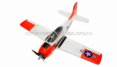 2.4GHz Airfield T-28 Trojan 800mm RC Warbirds RTF w/ Brushless Motor+ESC+Everything (Red) RC Remote Control Radio