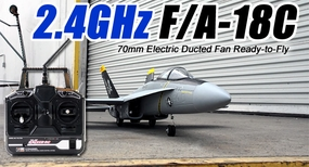 "2.4GHz Exceed RC F/A-18C 70MM EDF Jet ""Silver Hornet"" - RTF"