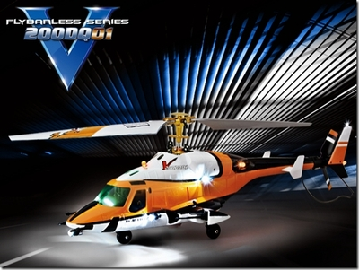 2.4Ghz Walkera V200DQ01 Flybarless 4 Channel RTF R/C Helicopter w/ LED Lights & Metal Rotor Head RC Remote Control Radio
