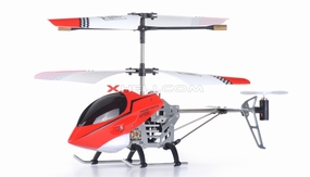 3 Channel Mini X Sport RC Electric Co-axial Helicopter w/ LED Lights Full Metal Body Frame & Gyroscope (Red) 6033-XSportHeli-Red