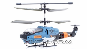 3 Channel Remote Control Co-axial RC Helicopter RTF w/ Built in Gyro (Blue)