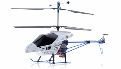 3 Channel RTF Ready to Fly Electric RC Helicopter w/ Built in Gyroscope (White)