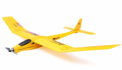 3-Channel Slope Diver EP RTF Radio Remote Controlled RC Airplane RTF Folded Wing Version ( Yellow)