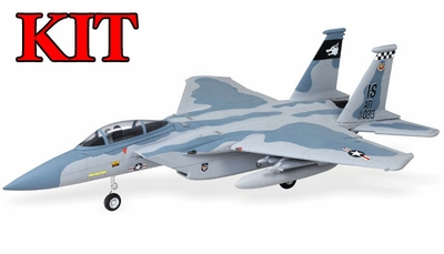 4-CH AirField 64mm F15 Ducted Fan RC Jet Kit w/out electronics (Sky Camo) 93A15-F15-SkyCamo-Kit