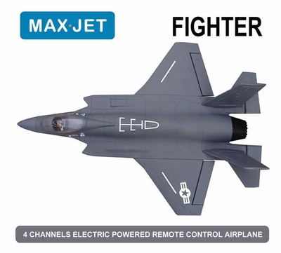 4 CH Max Jet 64MM Fighter Electric Ducted Fan Jet KIT Version (Sky Grey)