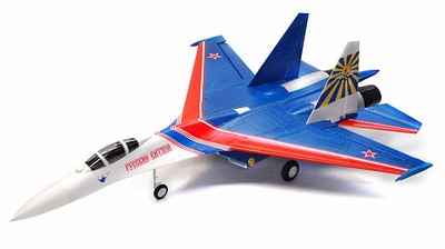 4 CH Russian Knight SU-27 Twin 64mm FLANKER 3D Aerobatic Radio Remote Control Electric Ducted Fan RC Fighter Jet RTF w/ Dual Brushless Ducted Fan