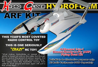 4-Channel ARF Radio Remote Control R/C HydroFoam RC Airplane + Boat 3-in-1