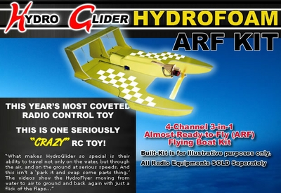4-Channel ARF Radio Remote Control RC HydroFoam RC Glider Airplane Boat 3-in-1