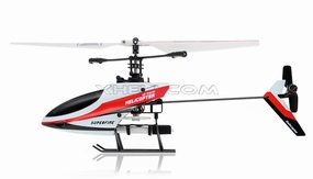 4CH Mini RC Helicopter 9958 hot selling 2.4GHz Single-Propeller with Gyro  (Red)