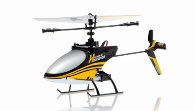 4CH Mini RC Helicopter 9958 hot selling 2.4GHz Single-Propeller with Gyro  (Yellow) RC Remote Control Radio