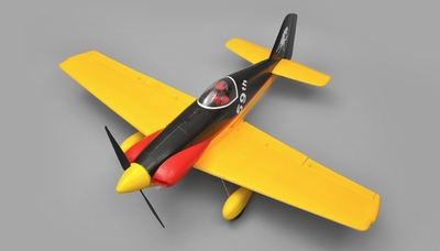"AeroSky 5 Channel Midget Mustang 55"" Scale Remote Control Plane Kit (Yellow)"