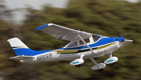 5 Channel CMP Cessna-182 Sky Trainer-50 Electric RC Plane Kit Version (Blue)
