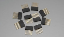 "6 pin 1"" Tall Female Stackable Header (10pcs)"