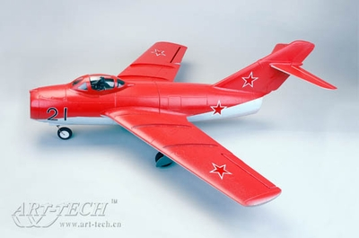 64mm Art-Tech 4 Channel 2.4Ghz MiG-15 3D Radio Remote Control Electric Ducted Fan RC Fighter Jet ARF Almost Ready to Fly! RC Remote Control Radio
