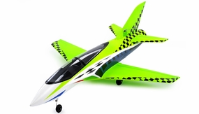 64mm Concept X Super Performance Brushless Ducted Fan RC Jet ARF Receiver-Ready (Green) RC Remote Control Radio