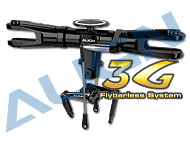 700 Flybarless System Main Rotor Set/Black HN7108QA