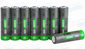 8-Pack AA 2200mAh NiMH Rechargerable Battery