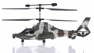 9059A 3 Channel Gunship Military RC Helicopter w/ Built in Gyro & Flashing Balance Bar