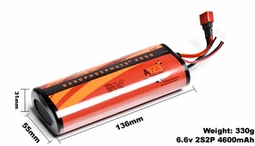 A123 Systems 4600mAh 6.6V 2S2P Lithium-ion LiFePo4 Battery