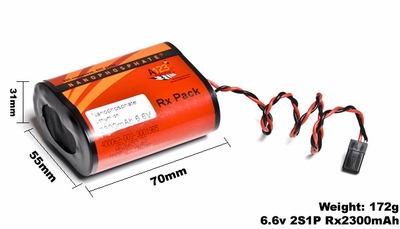 A123 Systems RX2300mAh 6.6V 2S1P Lithium-ion LiFePo4 Battery A123-400062-003