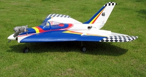 "Aerobatic Flying Swallow Jet 46 - 43.3"" ARF Nitro Gas Powered Radio Remote Controlled Aircraft, Almost-Ready-to-Fly Plane!"