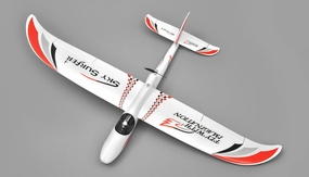 AeroSky 4-CH Skysurfer 1400mm RC Glider RTF (2.4G Red)