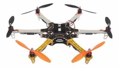 AeroSky RC 550 RC 6 Channel Hexacopter Ready to Fly 2.4 G  (Yellow) RC Remote Control Radio