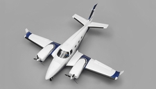 AeroSky B60 Duke 6 Channel Twin Engine RTF Wingspan 1600mm RC Plane (Blue)