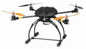 AeroSky RC C6 RC 6 Channel Carbon Quadcopter Almost Ready to Fly RC Remote Control Radio