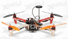 AeroSky P12 Radio Remote Control RC Quadcopter 4 Channel ARF w/ GPS